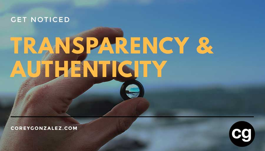 transparency & authenticity selling cg