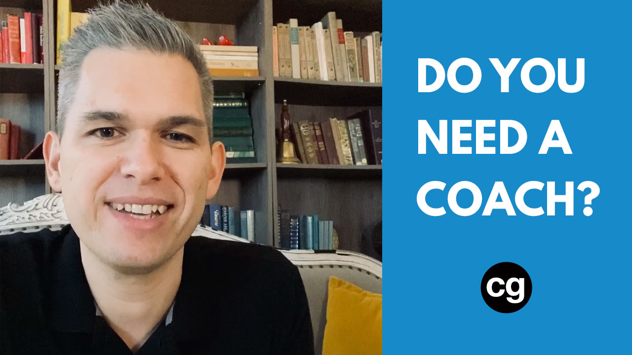 Do you need a coach? Corey Gonzalez (cg)